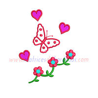 XR42MH - Flores y mariposa