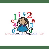 AT26PW - Niña números y letras