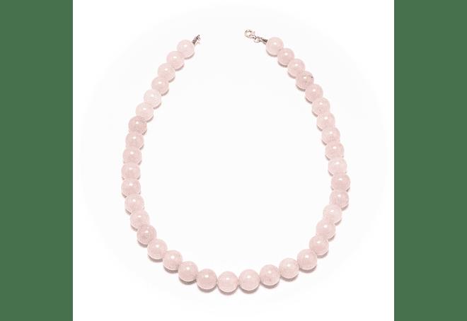 Collar de piedras cuarzo rosado