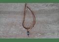 Collar de seda con colgante de piedra de los 7 chakras