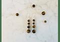 Aros de piedras ojo de tigre y detalles de plata