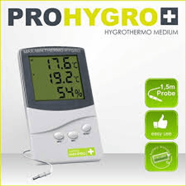 Termohigrometro Medio Con Sonda - Garden Highpro