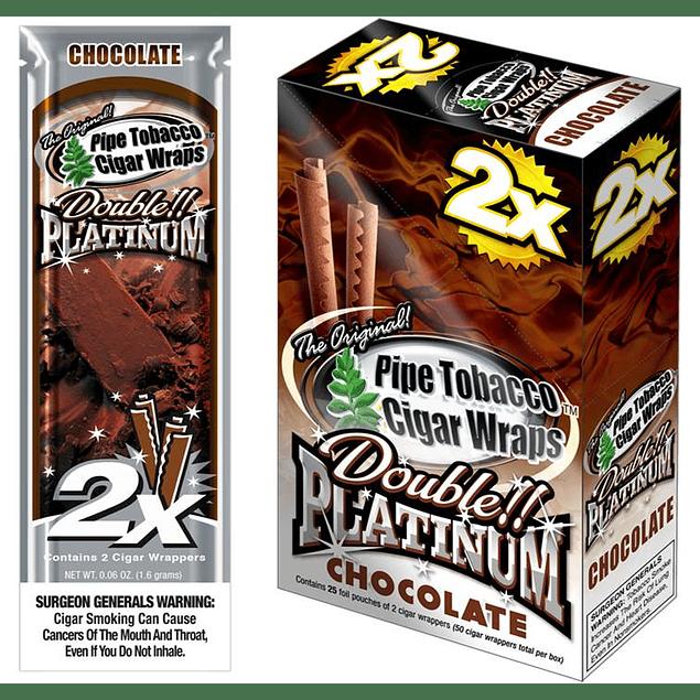 Blunt Wrap Platinium X 2 sabor Chocolate