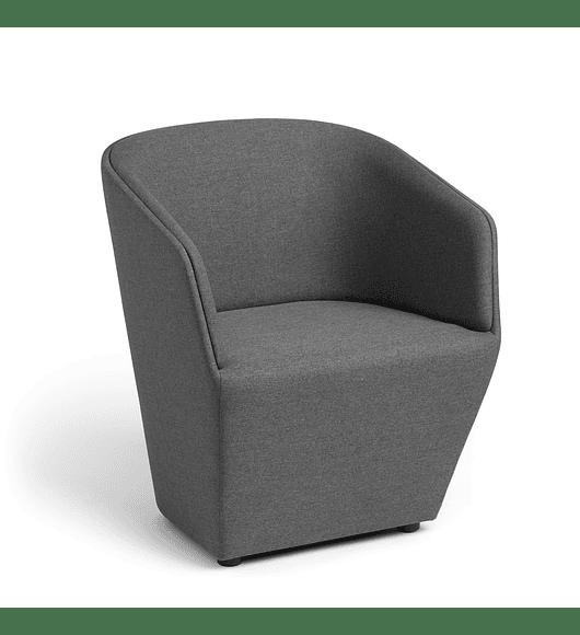 Dark Gray Pitch Club Chair