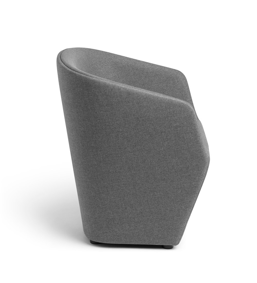 Dark Gray Pitch Club Chair
