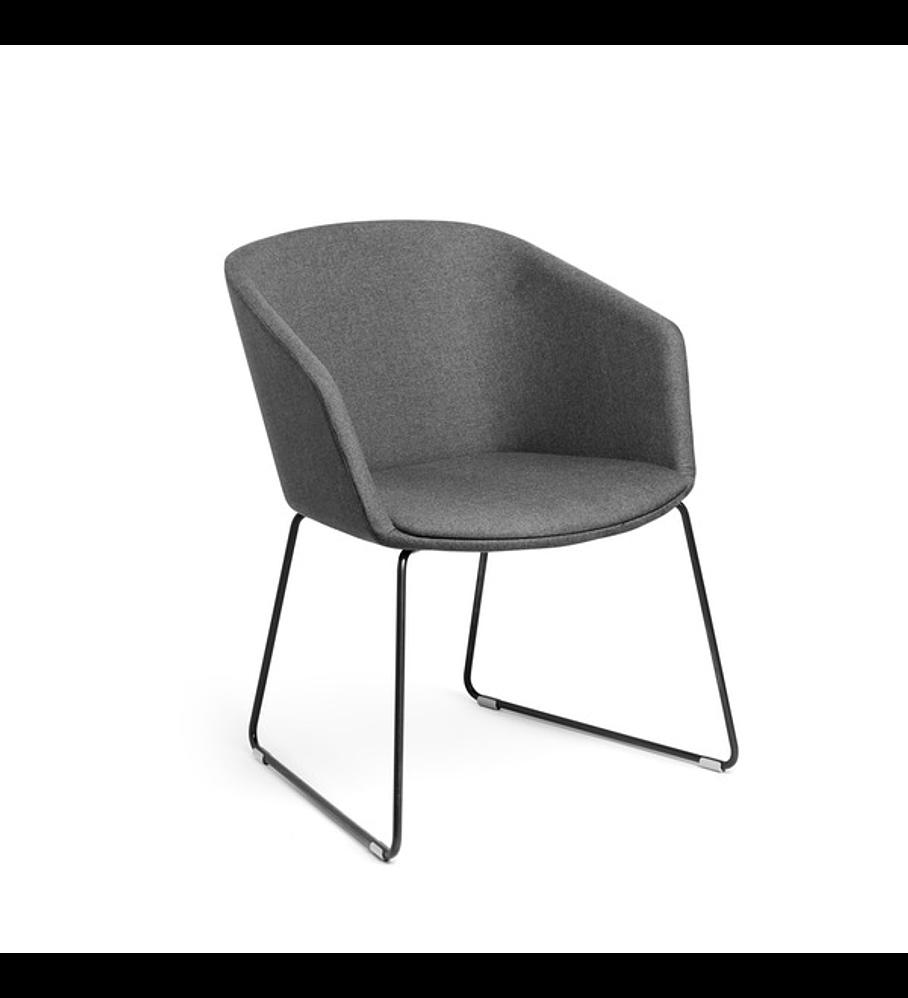 Dark Gray Pitch Sled Chair