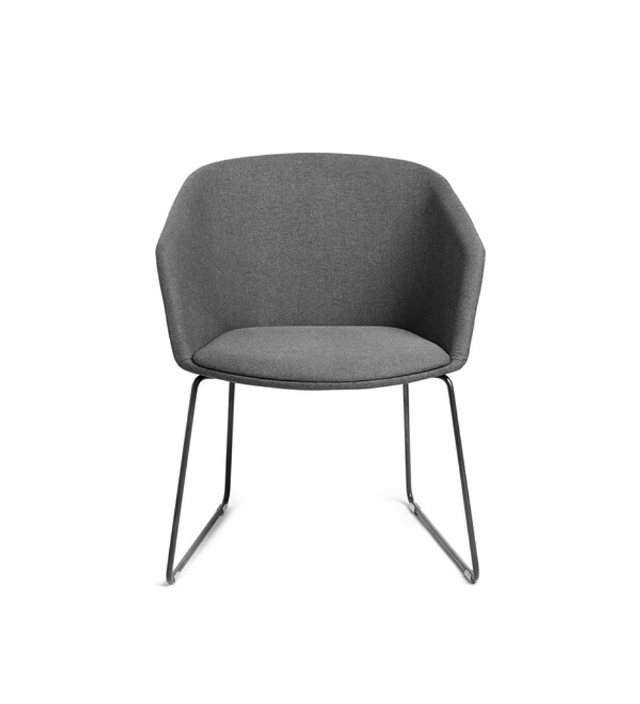 Dark Gray Pitch Sled Chair