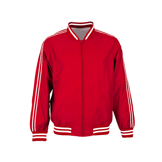 Red Jacket With Stripes