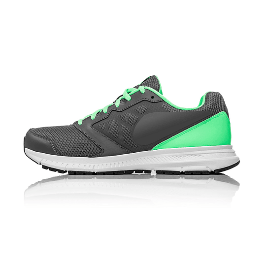 Green and Grey Running Sneakers