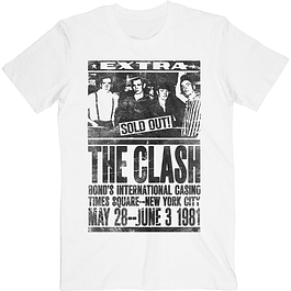 Polera Unisex The Clash Bond´s 1981