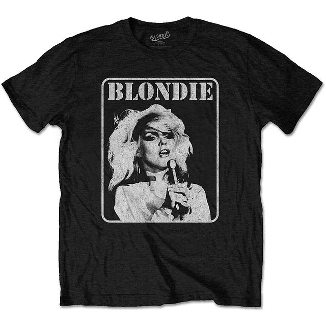 Polera Oficial Unisex Blondie Debbie Mic