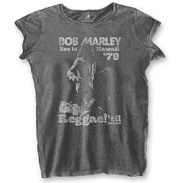 Polera Oficial Mujer Bob Marley Hawaii ´79