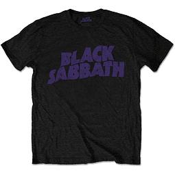 Polera Oficial Unisex Black Sabbath Wavy Logo Black