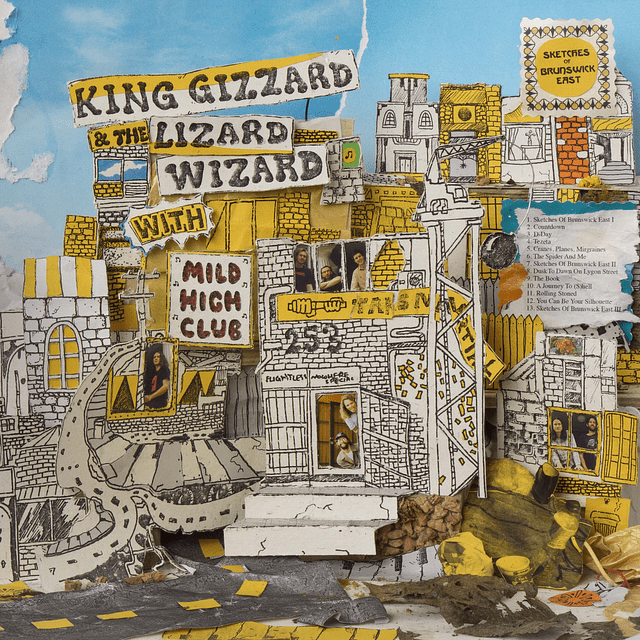 """Vinilo King Gizzard And The Lizard Wizard With Mild High Club – Sketches Of Brunswick East """"LP Colorido"""""""