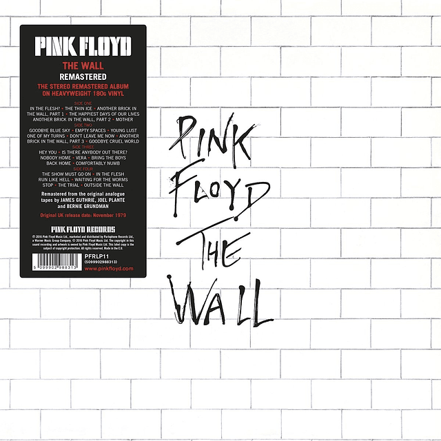 """Vinilo """"2LP"""" Pink Floyd – The Wall"""