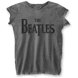 Polera Oficial Mujer The Beatles Logo Negro