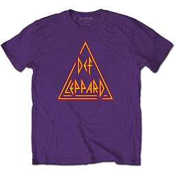 Polera Oficial Unisex Def Leppard Triangulo Purple