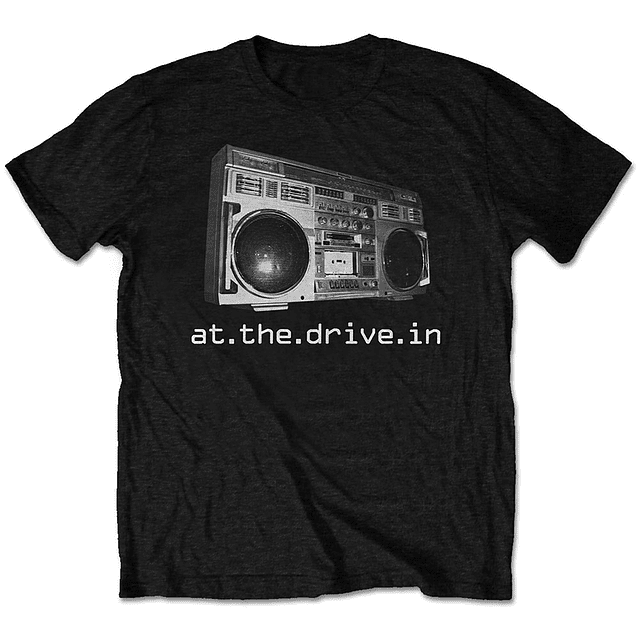 Polera Oficial Unisex At The Drive In: Boombox