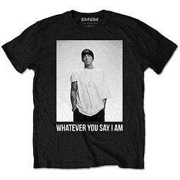 Polera Oficial Unisex Eminem: Whatever