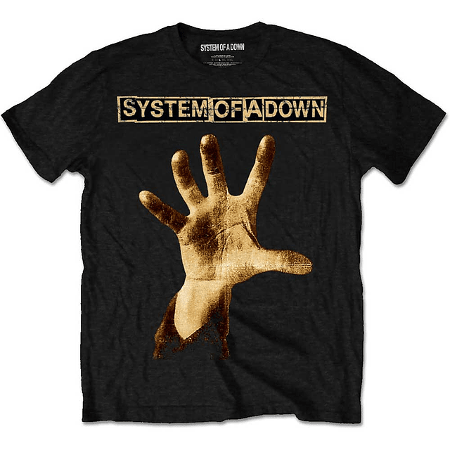 Polera Oficial Unisex System Of A Down: Hand