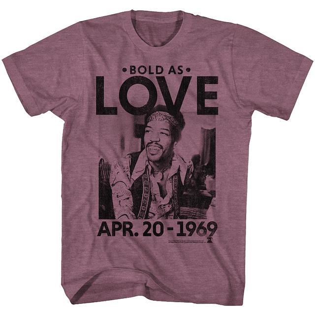 Polera Unisex Jimi Hendrix Bold As Love