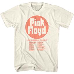 Polera Unisex Pink Floyd North American Tour 1971
