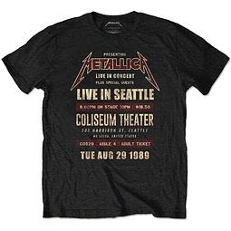 """Polera Oficial Unisex Metallica Seattle ´89 """"Ecofriendly"""""""