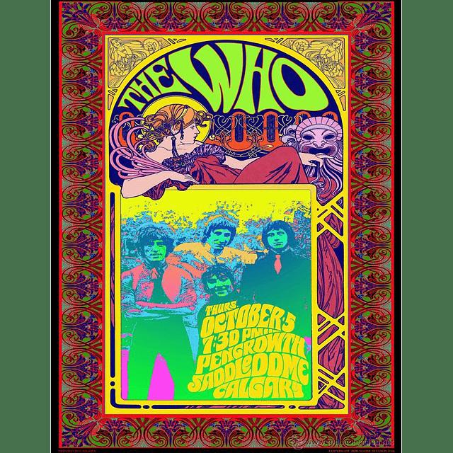 Afiche The Who in Concert Calgary de Bob Masse
