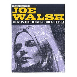 Afiche Joe Walsh Fillmore Philadelphia