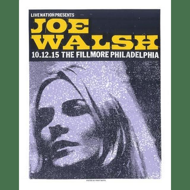 Afiche Joe Walsh Fillmore Philadelphia
