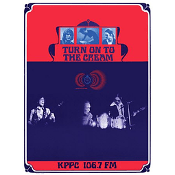 Afiche Turn on to the Cream, KPPC Radio,Los Angeles 1968