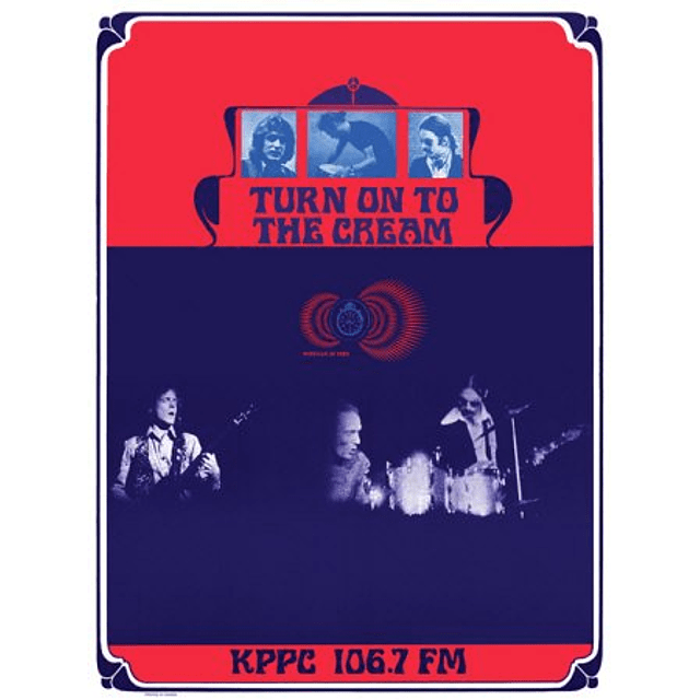 Afiche Turn on to the Cream, KPPC Radio,Los Angeles 1968