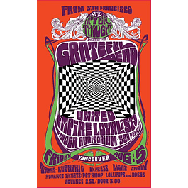 Afiche Grateful Dead in Concert, 1966 de Bob Masse