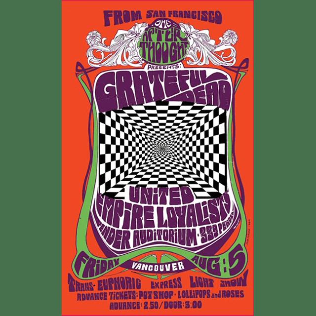 Afiche Grateful Dead in Concert, 1966 de Bob Masse