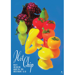 Afiche Hot Chip Greek Theatre, LA