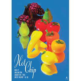 Afiche Hot Chip Greek Theatre, LA