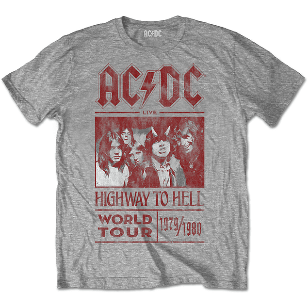 Polera Oficial Unisex AC/DC Highway To Hell World Tour 1979/80