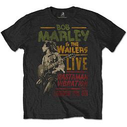 Polera Oficial Unisex Bob Marley Rastaman Vibration Tour 1976