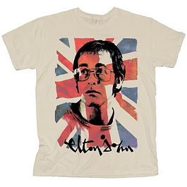 Polera Oficial Unisex Elton John Union Jack