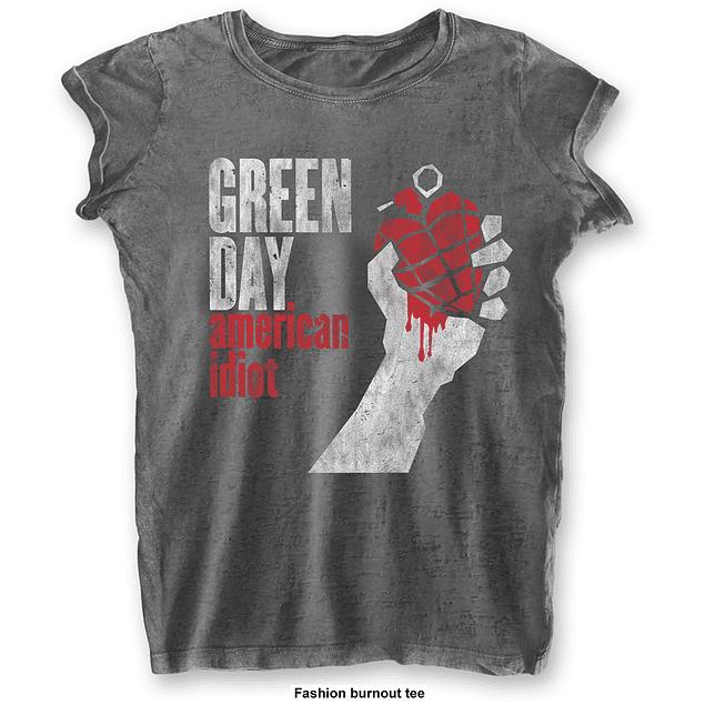 Polera Oficial Mujer Green Day American Idiot