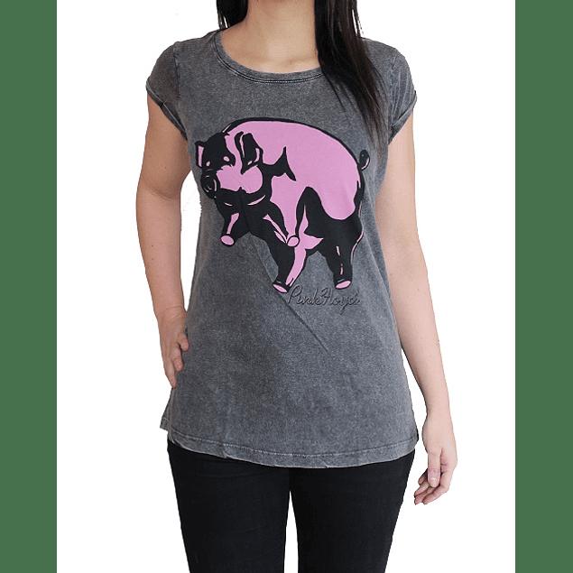 Polera Oficial Mujer Pink Floyd Animals Pig