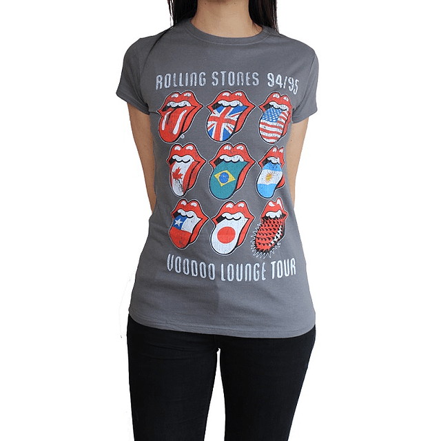 Polera Oficial Mujer Rolling Stones VDoo Lounge