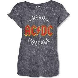 Polera Oficial Mujer AC/DC High Voltage