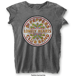 Polera Oficial Mujer The Beatles Sgt Pepper