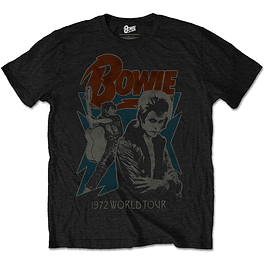 Polera Oficial Unisex David Bowie 1972 World Tour