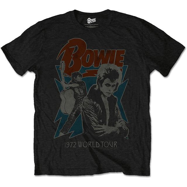 Polera Oficial Unisex David Bowie 1972 World Tour