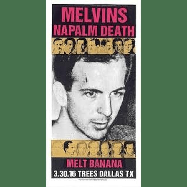 Afiche Melvins y Napalm Death, Dallas Texas