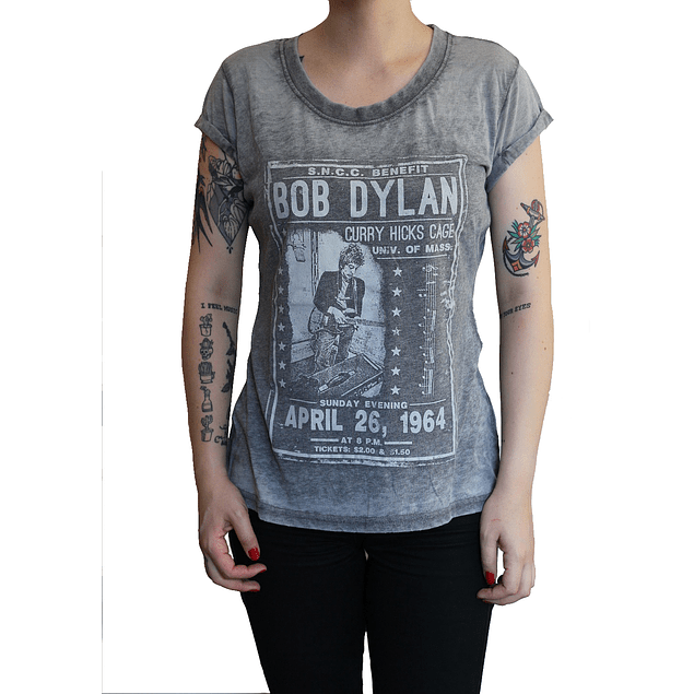 Polera Oficial Mujer Bob Dylan Curry Hicks Cage 1964