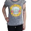 Polera Oficial Mujer Guns ´n Roses Logo