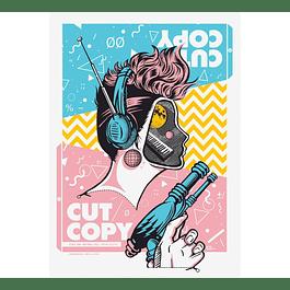 Afiche Oficial Cut Copy Teatro Teletón ´18 de Jofré Conjota